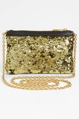 Dolce & Gabbana Miss Mini Sequin Crossbody Bag in Gold - Lyst