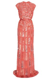 Elie Saab Fully Beaded Cap Sleeve Gown - Lyst