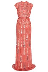 Elie Saab Fully Beaded Cap Sleeve Gown