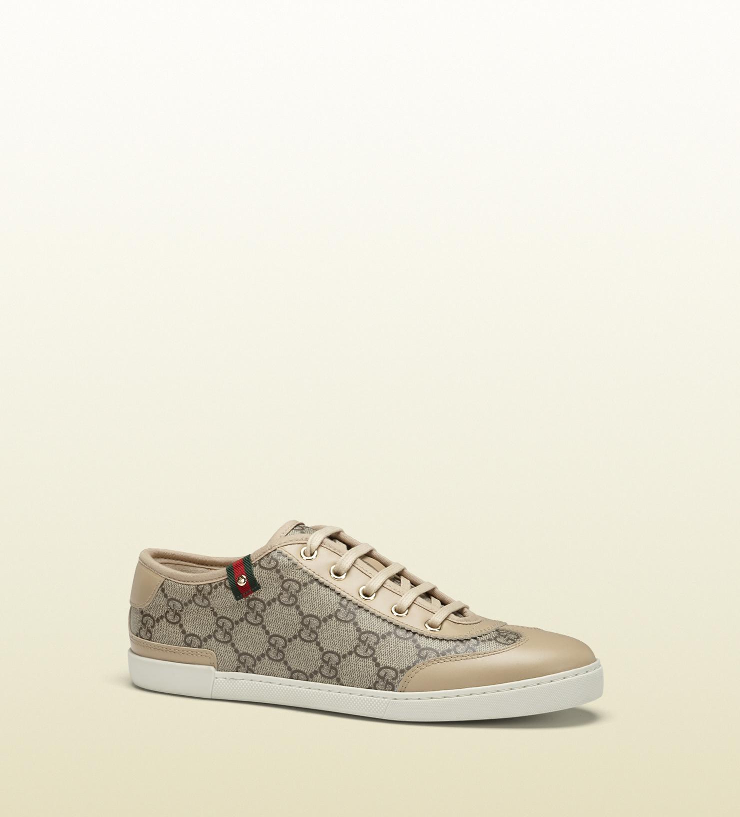 c0755ed5359 Lyst - Gucci Barcelona Gg Supreme Canvas Sneaker in Gray