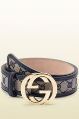 Gucci Original Gg Canvas Belt with Interlocking G Buckle - Lyst