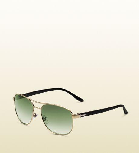 Gucci Gold Sunglasses Men Gucci Mens Classic Light Gold