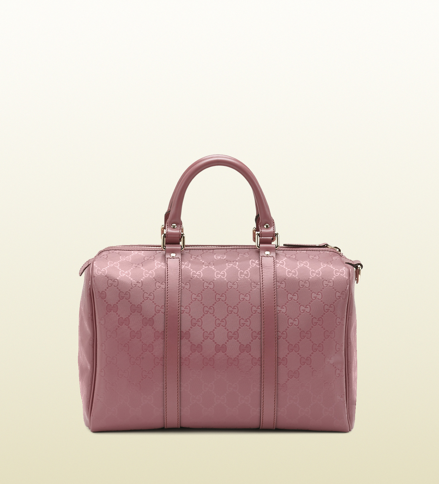 Lyst - Gucci Joy Dark Pink Gg Imprimé Boston Bag in Pink