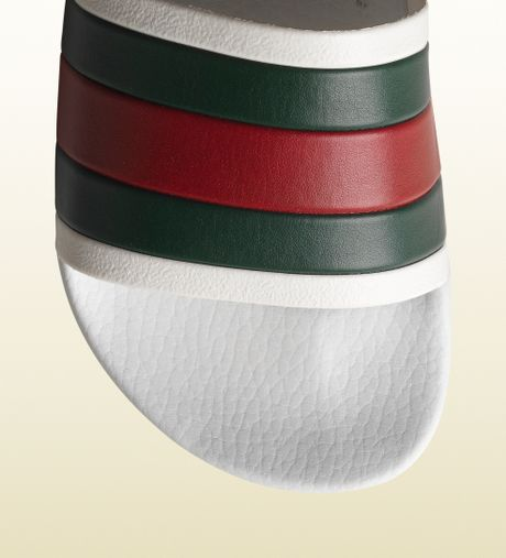 55a2494165d7 Gucci Rubber Slide Sandals Review.Gucci White Rubber Slide Sandal In ...