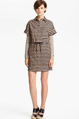 Kenzo Stripe Stretch Cotton Shirtdress - Lyst