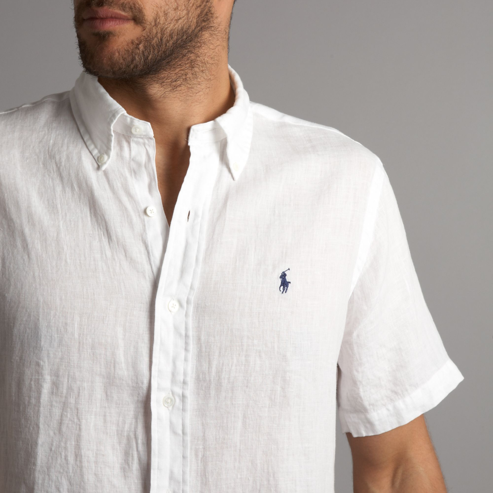 Lyst Polo Ralph Lauren Short Sleeved Linen Shirt In