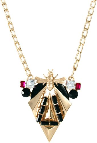 Asos Midnight Bug Necklace - Lyst