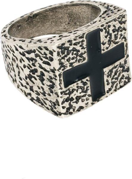Chunky Mens Silver Designer Ring