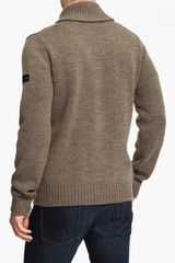 Ben Sherman Shawl Collar Cardigan in Brown for Men (almond) - Lyst