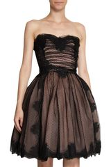 Dolce & Gabbana Net and Floral Lace Dress in Black (floral) - Lyst