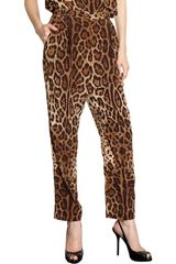 Dolce & Gabbana Pleated Leopard Trousers - Lyst