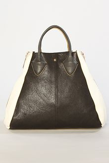 Pour La Victoire The Yves Medium Tote Bag in Black and White - Lyst