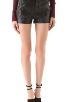 Theyskens' Theory Paluccia Norinto Leather Shorts - Lyst
