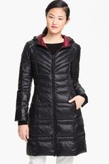 Bernardo Hooded Down Walking Coat - Lyst
