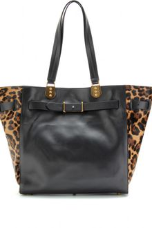 Christian Louboutin Sybil Large Haircalf Trimmed Tote - Lyst