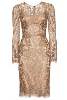 Dolce & Gabbana Dress with Lace Overlay - Lyst