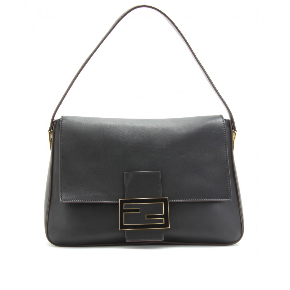 40aecb5f8f9e Fendi Big Mamma Leather Shoulder Bag in Black - Lyst