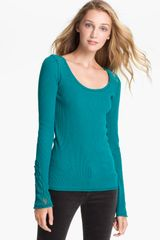 Lucky Brand Lace Trim Thermal Top - Lyst