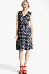 Marc Jacobs Diamond Print Silk Twill Dress - Lyst