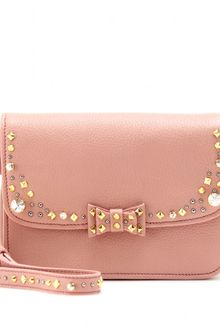 Miu Miu Embellished Leather Shoulder Bag - Lyst