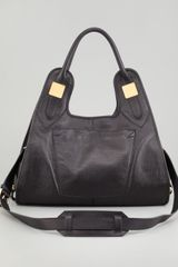 Rachel Zoe Lucas Medium Leather Shopper Bag Black - Lyst