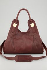 Rachel Zoe Lucas Medium Leather Hobo Bag Merlot - Lyst