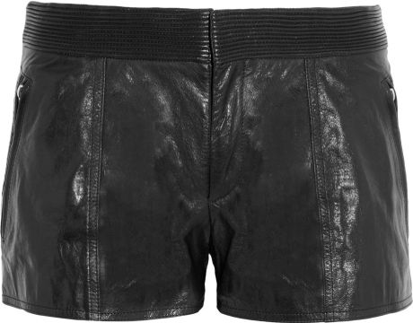 Theyskens' Theory Paluccia Norinto Leather Shorts in Black - Lyst