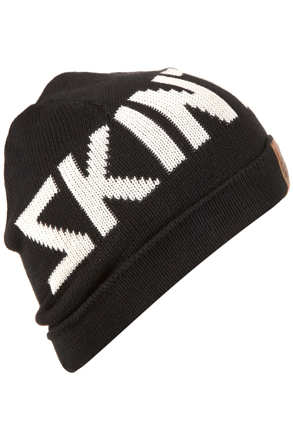 Topshop Skint Beanie Hat By Illustrated People in Black | Lyst