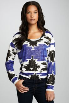 Townsen Shimmery Tribal-Print Top - Lyst