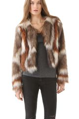 Twelfth Street by Cynthia Vincent Faux Fur Jacket