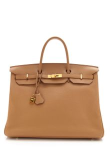 Vintage Hermès From Heritage Auctions 40cm Tabac Camel Clemence Leather Birkin - Lyst