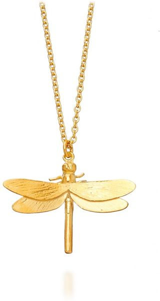Alex Monroe Dragonfly Necklace in Gold (yellow)