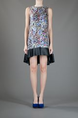 Balenciaga Abstract Dress in Multicolor (multicolour) - Lyst