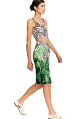 Clover Canyon How High Crop Top in Silver (black/white) - Lyst