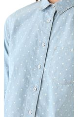 Madewell Dotted Chambray Shirt in Blue - Lyst
