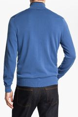 Michael Kors Zip Cardigan in Blue for Men (officer) - Lyst
