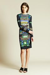 Peter Pilotto  Print Patterned Jersey Dress - Lyst