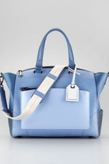 Reed Krakoff Uniform Satchel Bag Blue Ombre