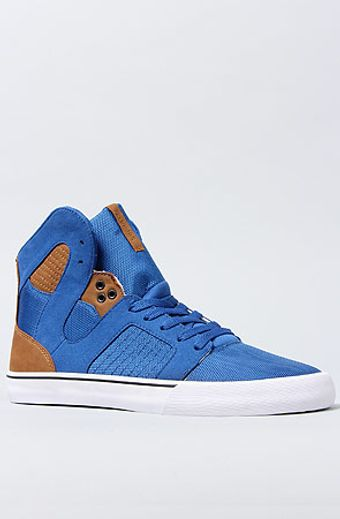 Supra The Pilot Sneaker in Royal Ballistic Nylon Brown Kidskin - Lyst