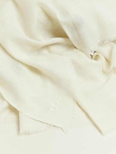 Thamanyah Mens Oversized Cashmere Scarf in White for Men  Lyst White Cashmere Scarves Men