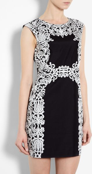 Tibi Violette Baroque Lace Print Dress - Lyst