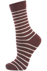 Topshop Wine Stripe Ankle Socks - Lyst