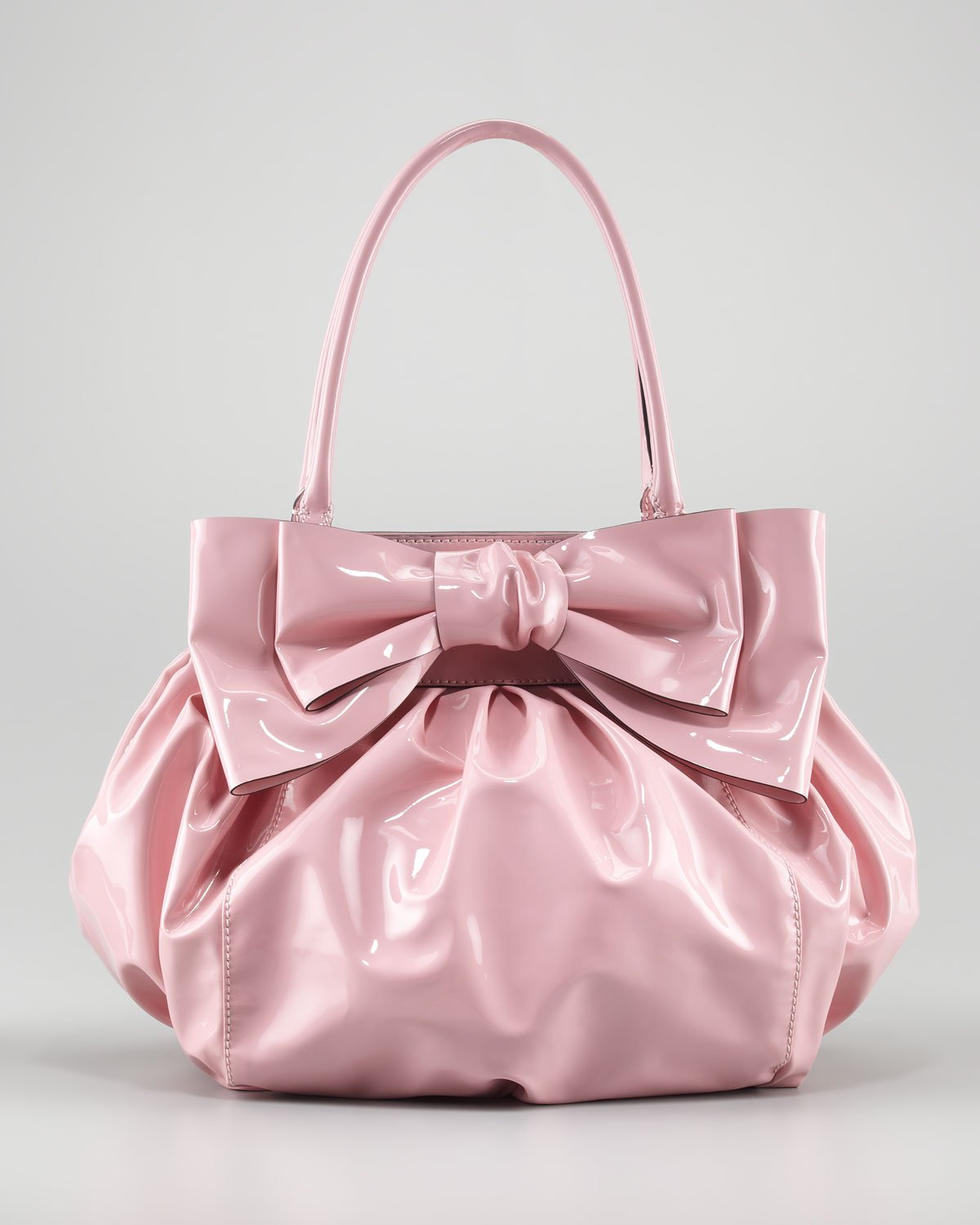 Valentino Doublehandle Lacca Bow Bag in Pink | Lyst