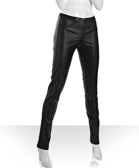 Bcbgmaxazria Black Faux Leather Jean Leggings in Black - Lyst
