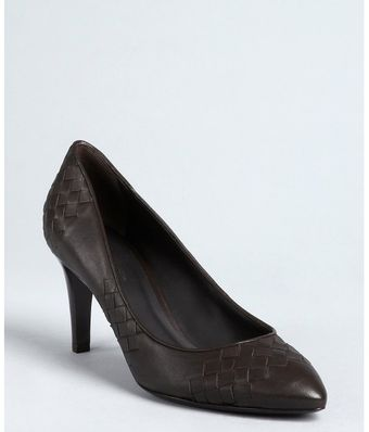 Bottega Veneta Express Intrecciato Leather Pointed Toe Pumps - Lyst
