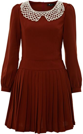 Cutie Pearl Collar Dress - Lyst
