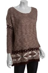 Free People Warm Taupe Nantes Dolman Sleeve Pullover Sweater - Lyst