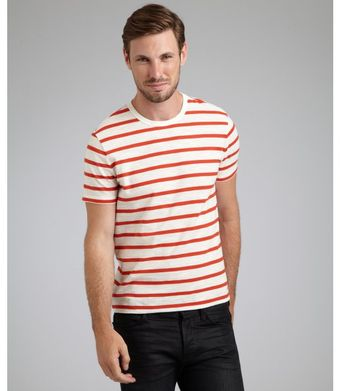 Gucci  Stripe Cotton Crewneck Short Sleeve T-Shirt - Lyst