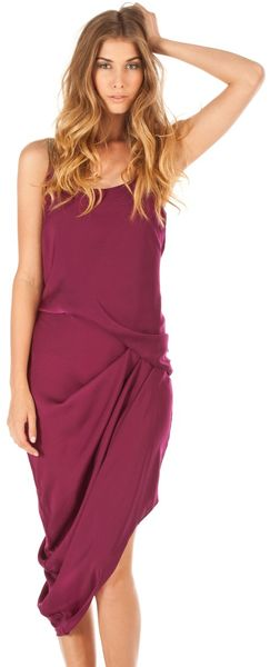 Halston Heritage Metallic Strap Dress - Lyst