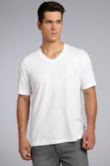 James Perse  Cotton Vneck Short Sleeve T-Shirt - Lyst
